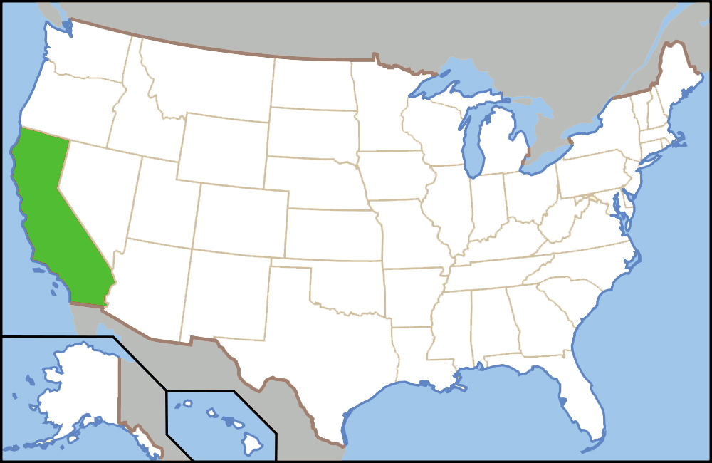 Sobering Fact All America's Households Could Fit In California: America Map California At Usa Maps
